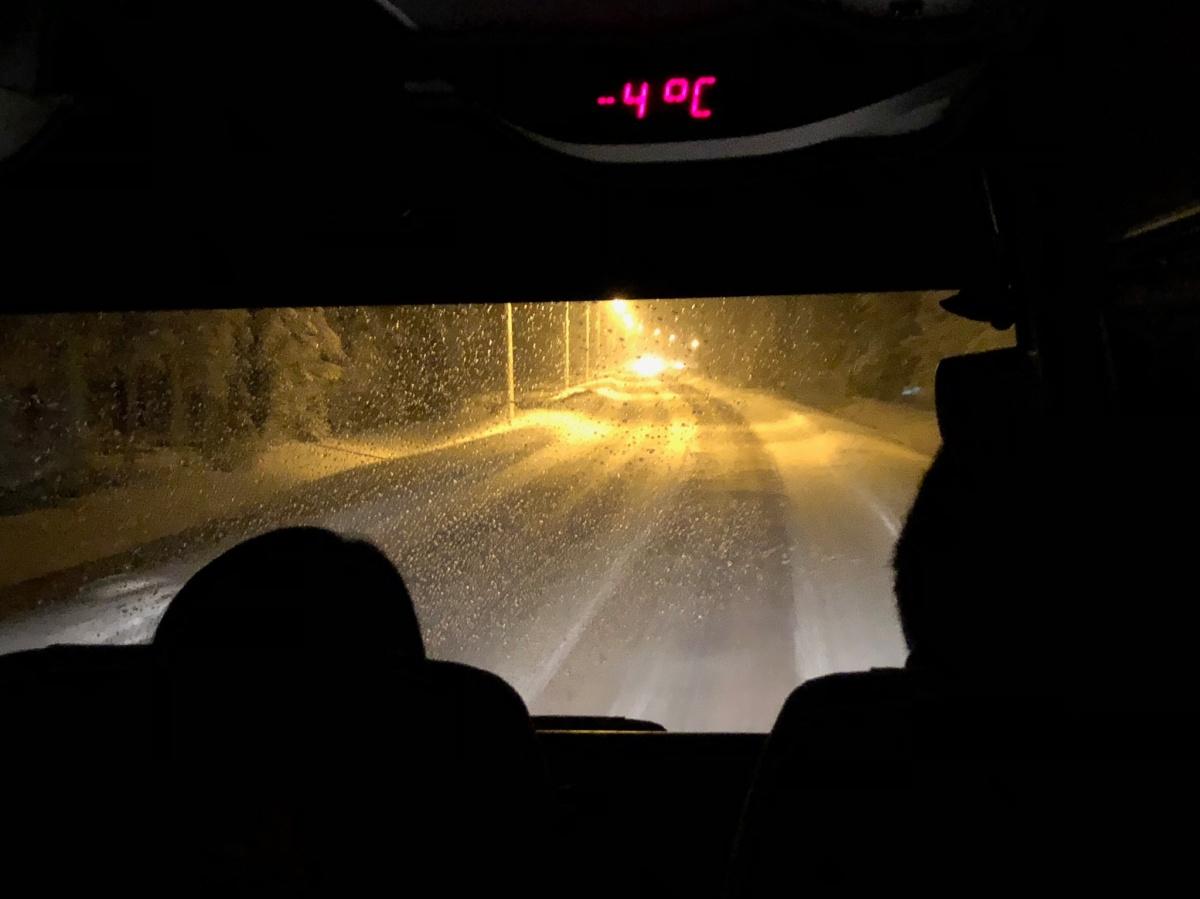 [2018芬蘭追極光之旅] 在Inari追北極光的四個夜晚(一)︱從羅凡尼米往Inari的巴士之旅